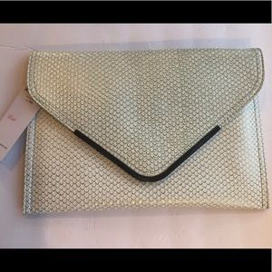 BCBGeneration Large Clutch Frost NWT